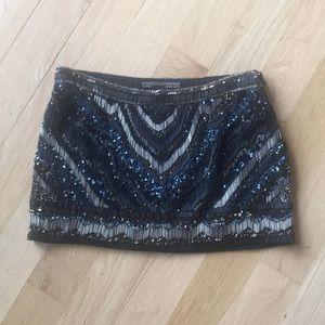 All saints hand embellished mini skirt